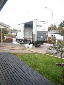 Lastbil med isolering